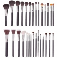 Pensule machiaj set 29 par natural de capra si bursuc