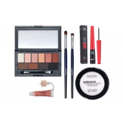 Set machiaj Pensule naturale, Pudra Ingrid, DoDo Eye and Brow 01