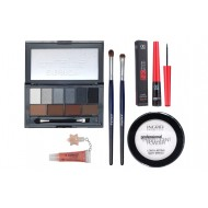 Set machiaj Pensule naturale, Pudra Ingrid, DoDo Eye and Brow 02